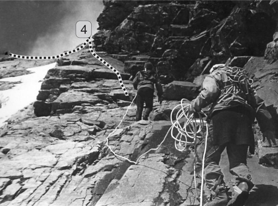podejście na trasie wspinaczki na Górę Czerskiego
