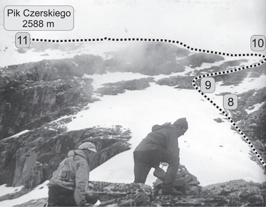ostatni etap wspinaczki na Górę Czerskiego